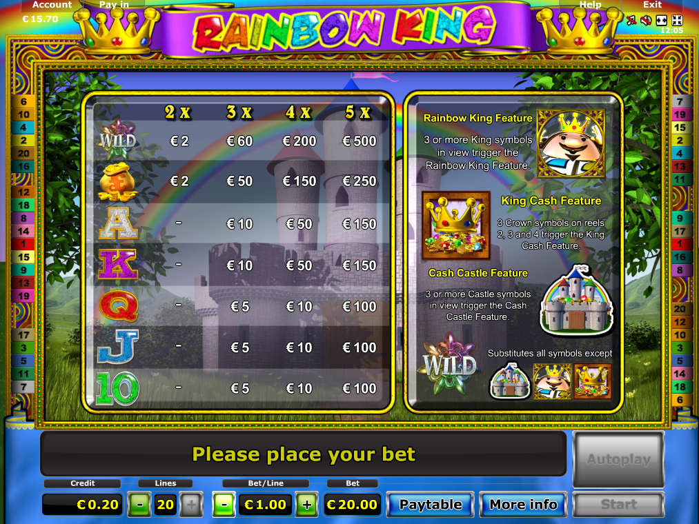 Rainbow King online kostenlos