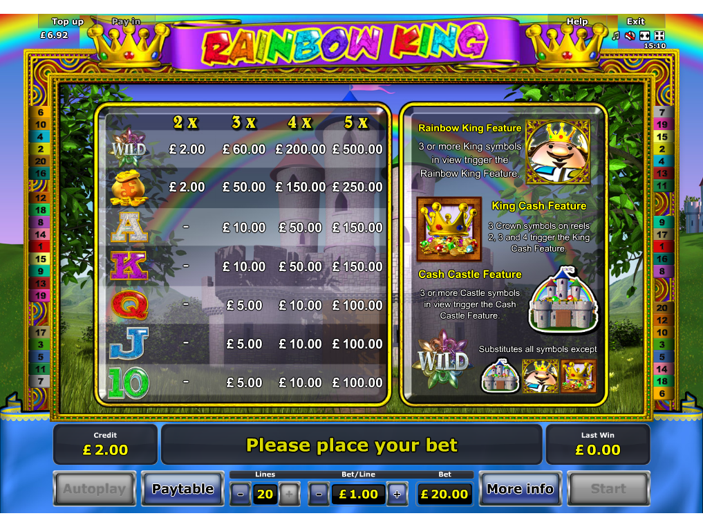 Rainbow King online free