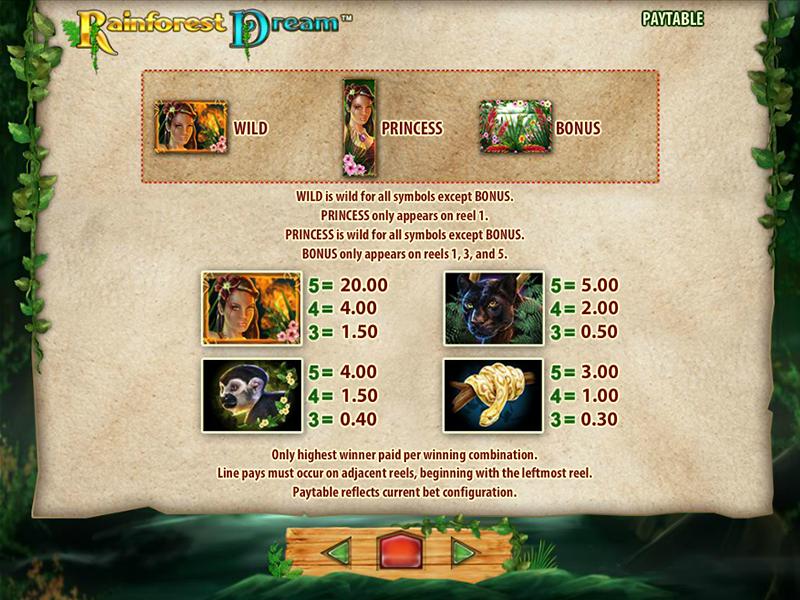 Rainforest Dream online kostenlos