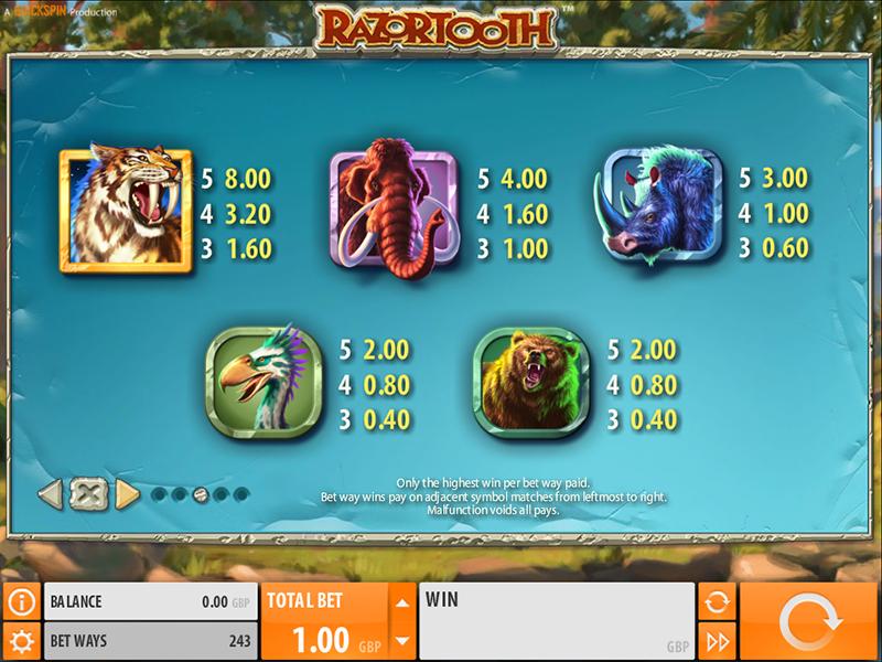 Razortooth online free