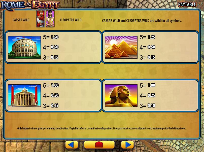 Rome and Egypt online gratis