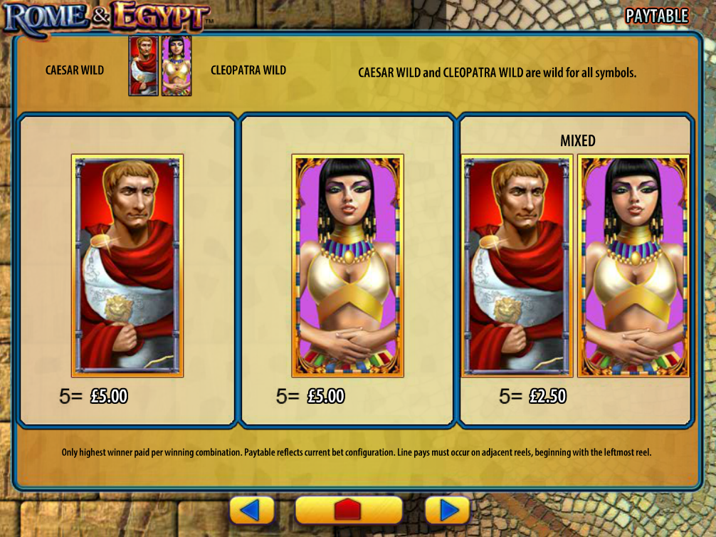 Rome and Egypt online free