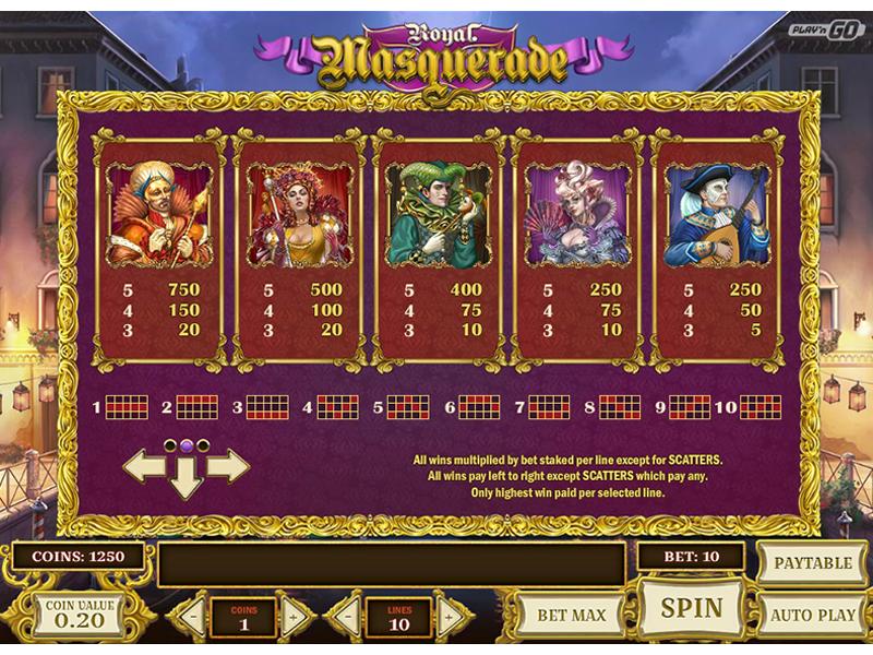 Royal Masquerade online gratis