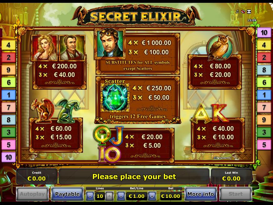 Secret Elixir online kostenlos