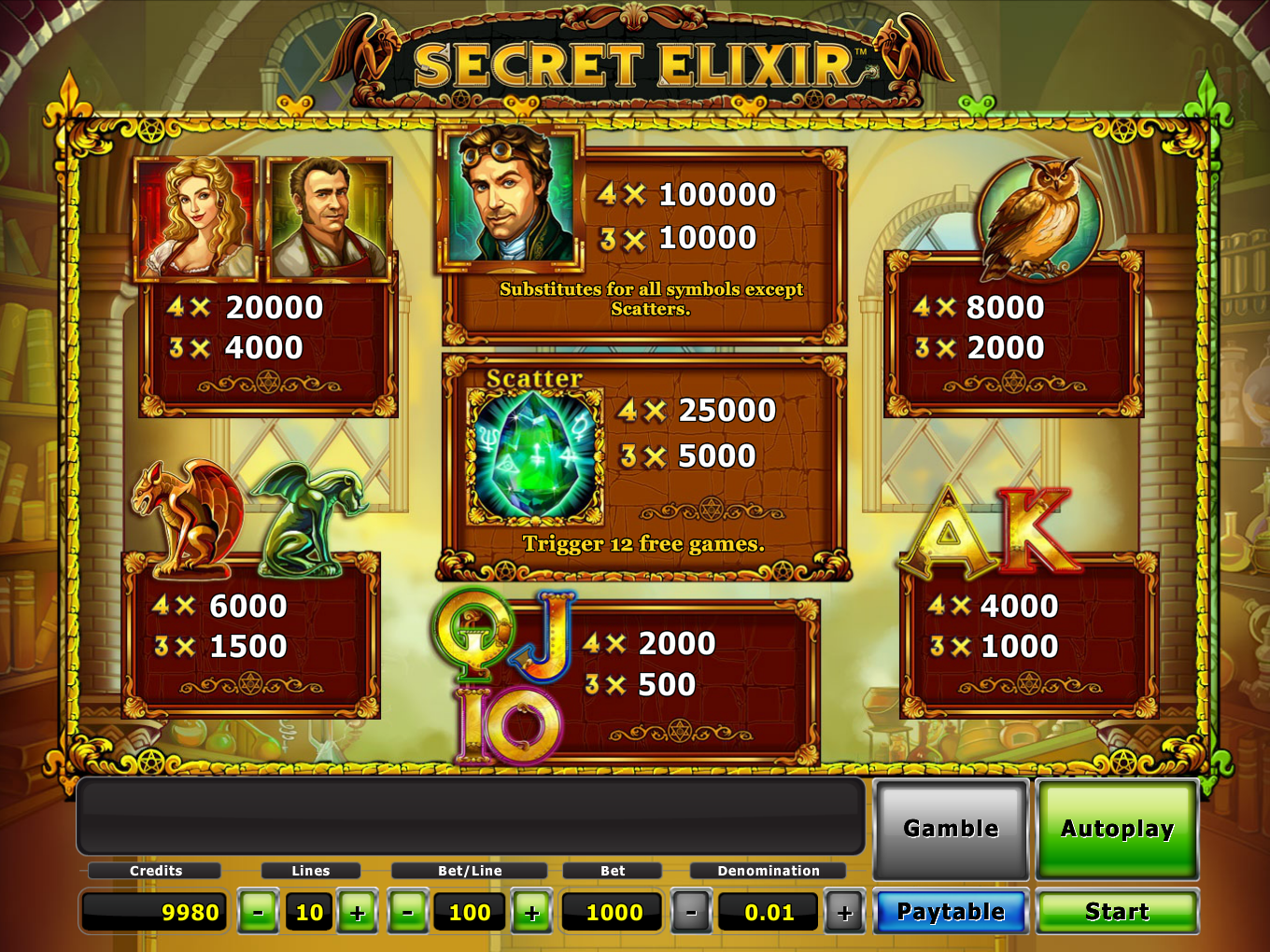 Secret Elixir online free