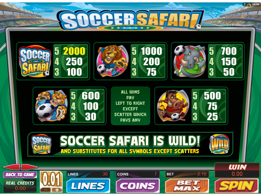 Soccer Safari online kostenlos