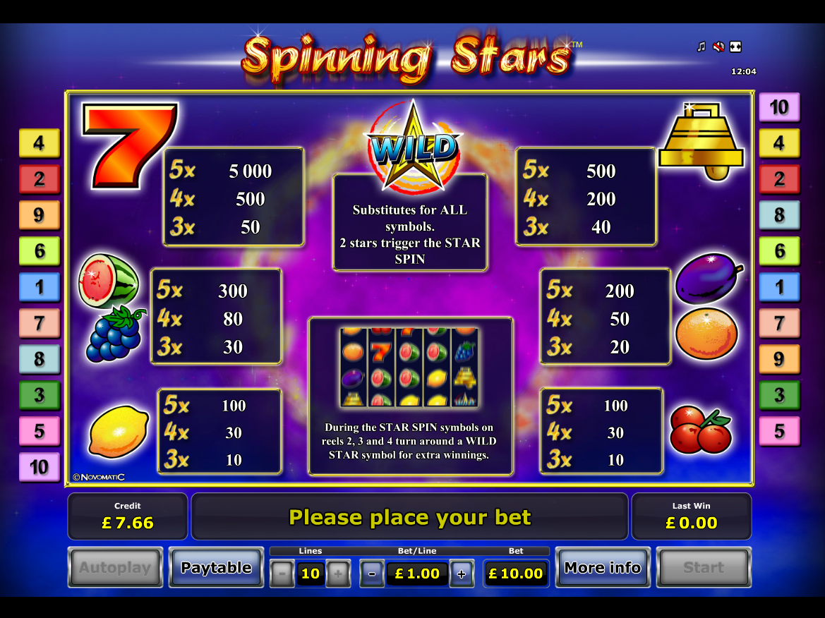 Spinning Stars online free