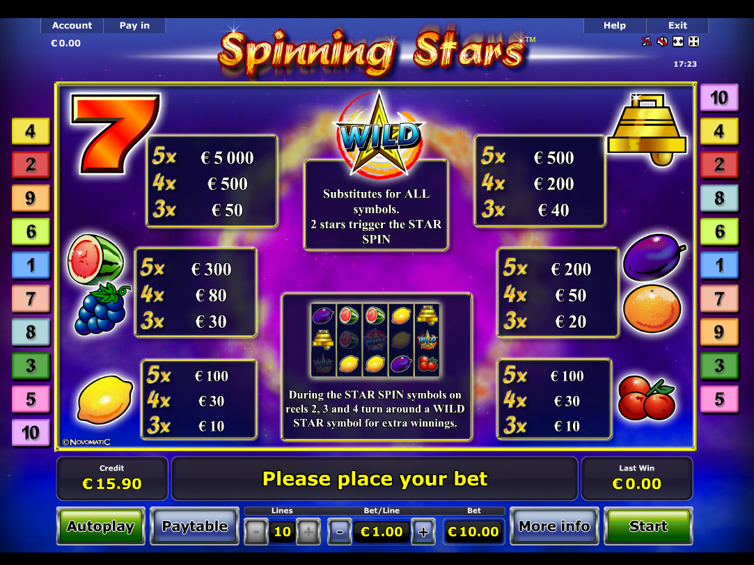 Spinning Stars online kostenlos