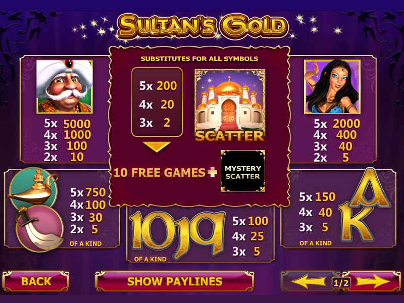 Sultan's Gold online free
