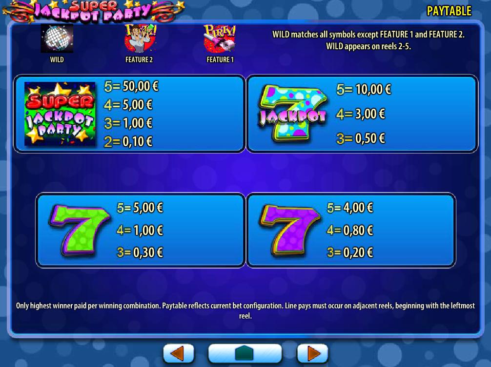 Super Jackpot Party online kostenlos