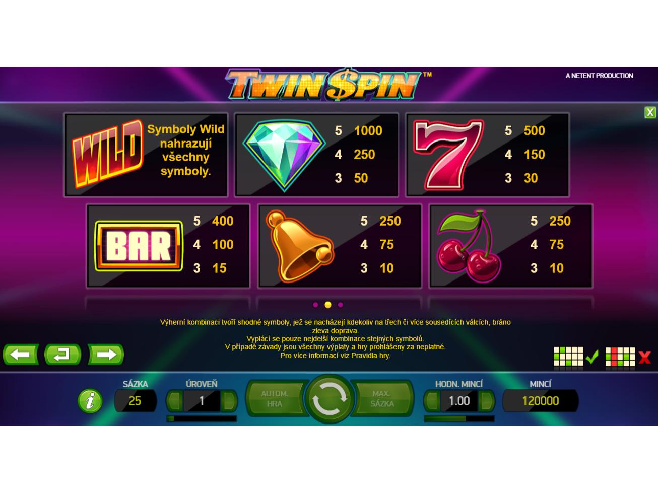 Twin Spin online za peníze#