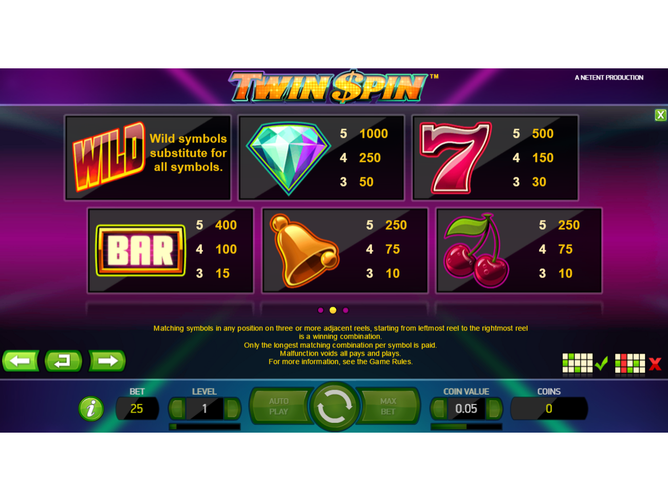 Twin Spin online kostenlos