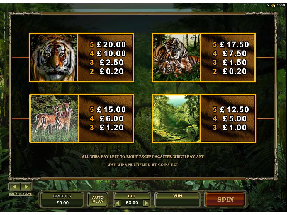 Untamed Bengal Tiger online free