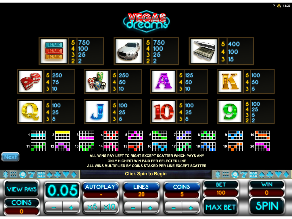 Vegas Dreams online kostenlos