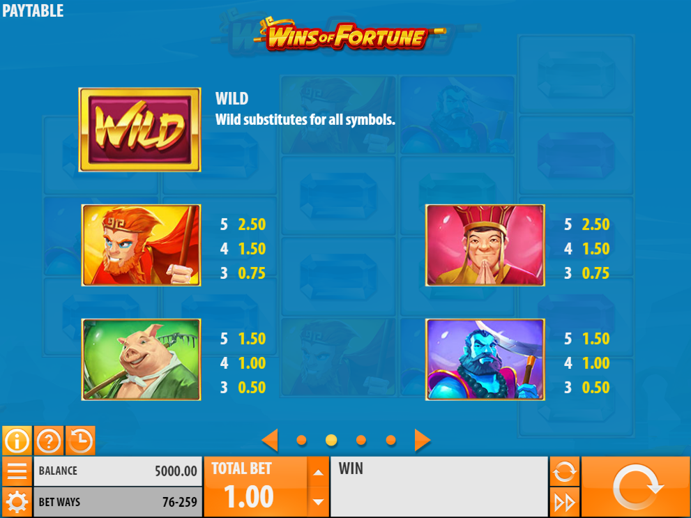 Wins of Fortune online gratis