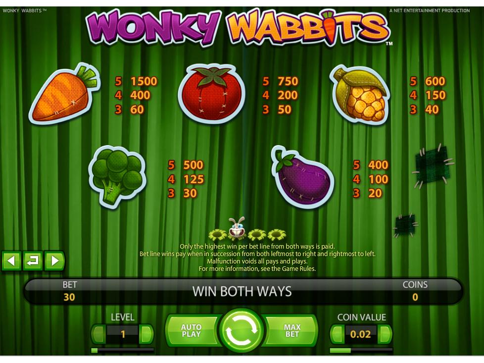 Wonky Wabbits online kostenlos
