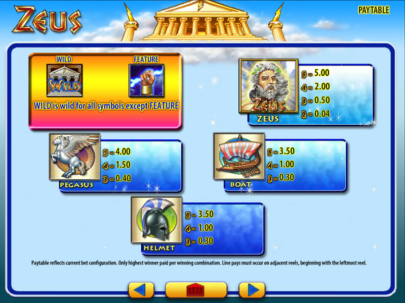 Zeus online kostenlos