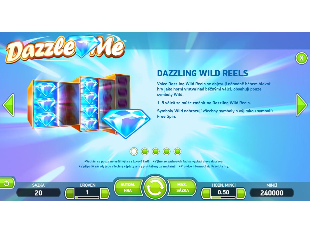Dazzle Me skutečné peníze#