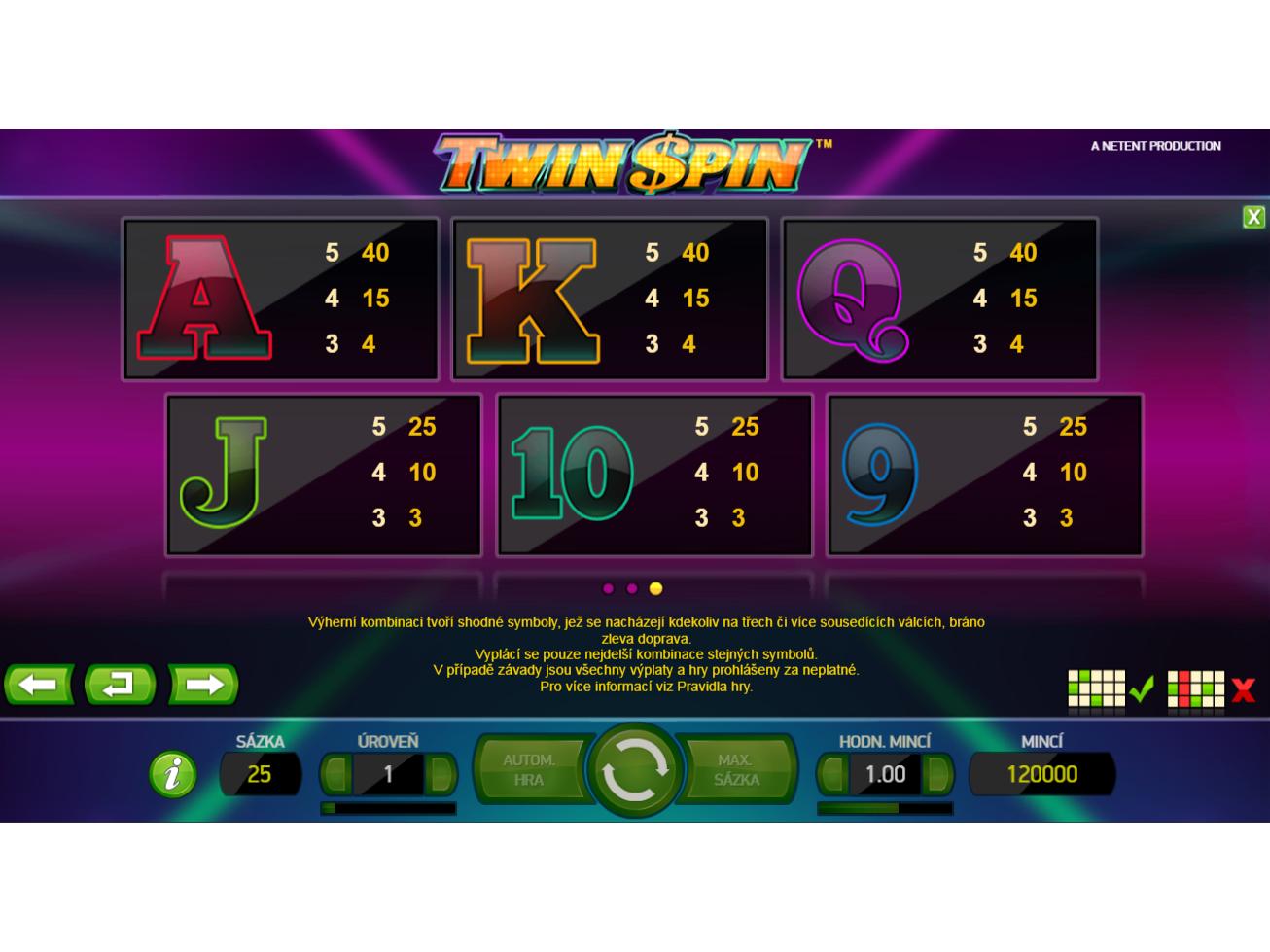 Twin Spin skutečné peníze#