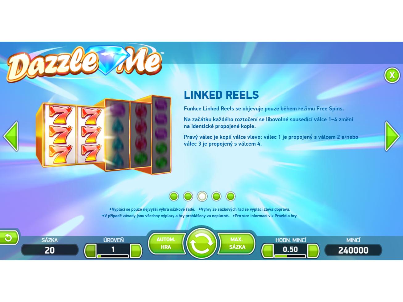 Dazzle Me online#
