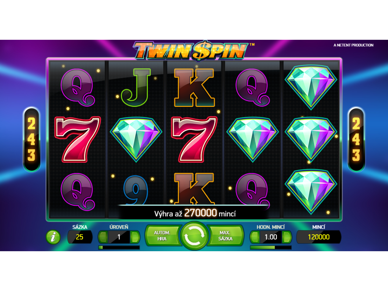 hrát Twin Spin online#