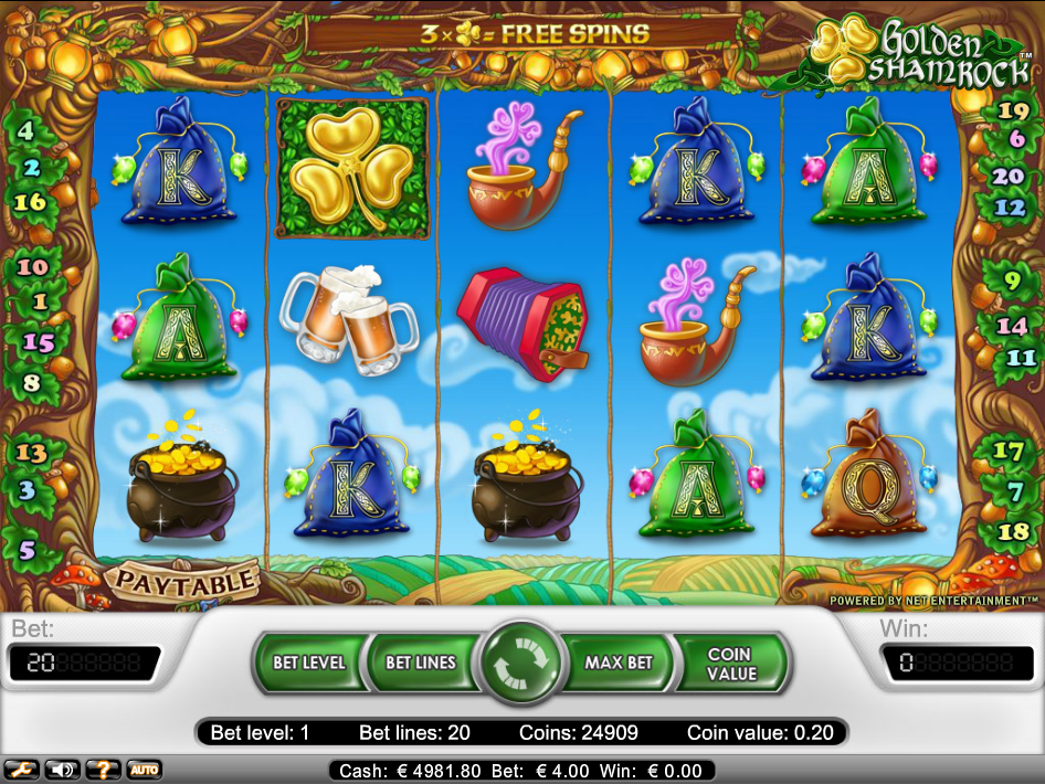 play Golden Shamrock for real money