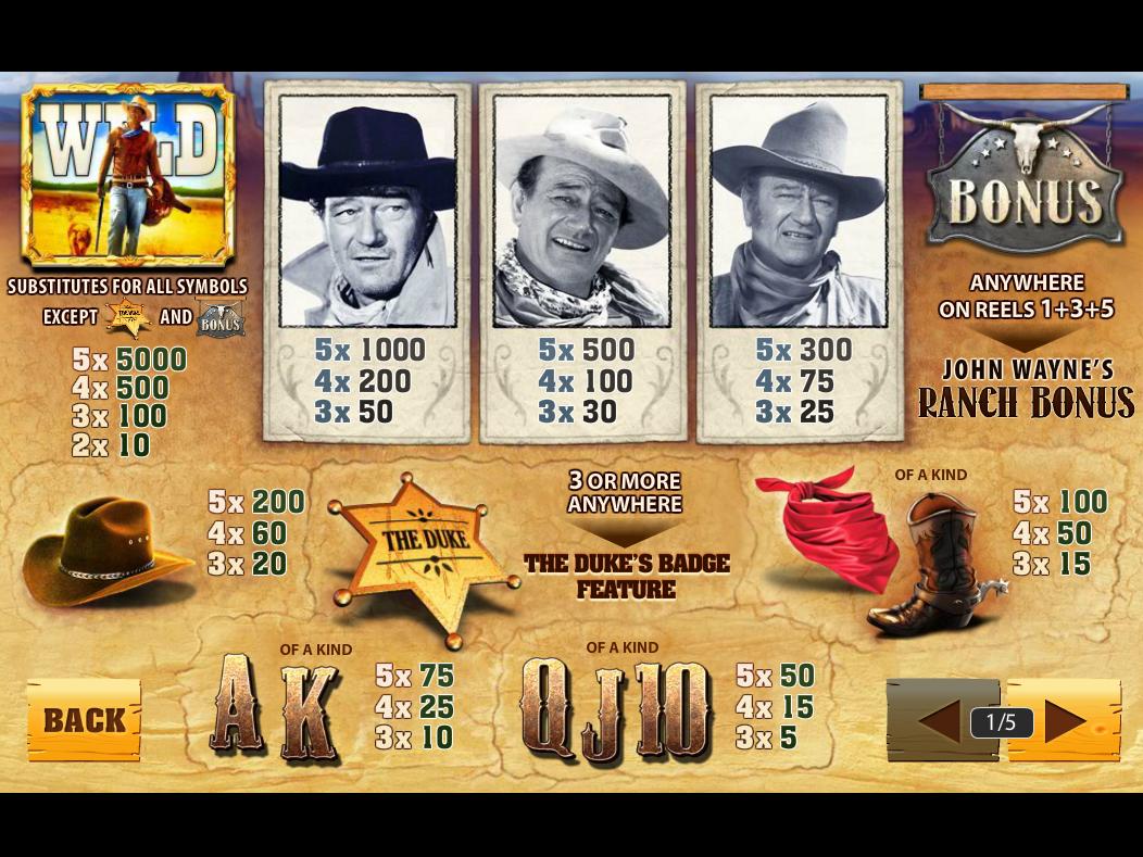 play John Wayne for real money