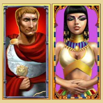 win real cash on Rome and Egypt