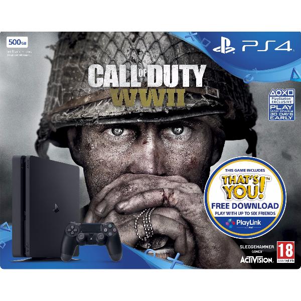 Sony PlayStation 4 500GB Bundle Black (+ Call of Duty: WWII)