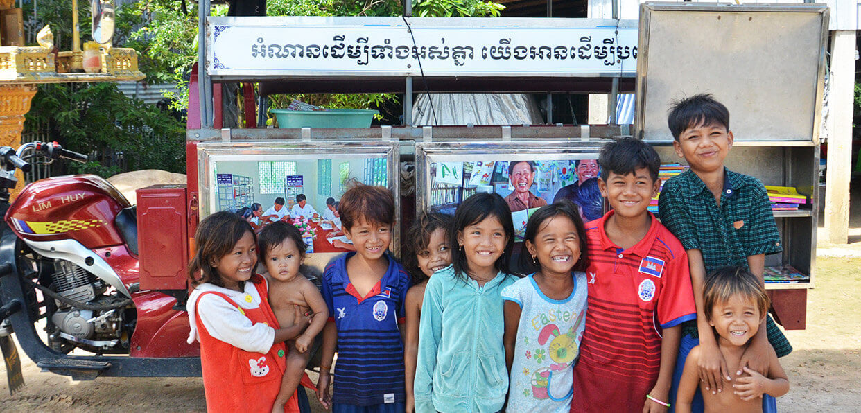 Education: améliorer les capacités de lecture des 3-11 ans au Cambodge