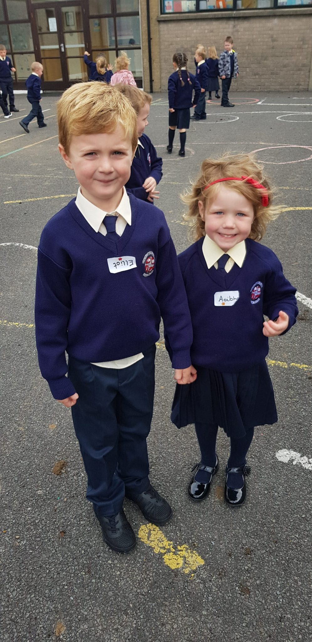 Junior Infants are enjoying school!