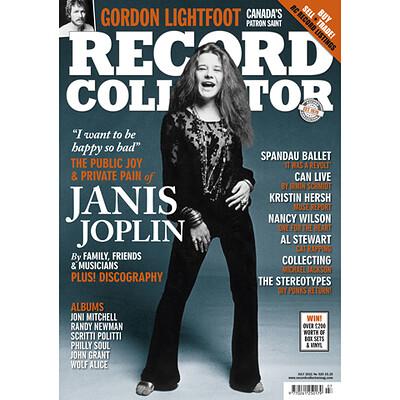 RECORD COLLECTOR MAGAZINE - No 520 July 2021 incl. Janis Joplin, Can, Gordon Lightfoot, Spandau Ballet, All Stewart etc. (MAG)