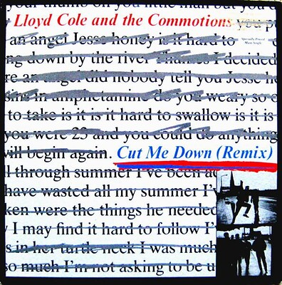 """LLOYD COLE & THE COMMOTIONS - CUT ME DOWN + 3 U.S. 12"""" maxi, promo stamped (12"""")"""