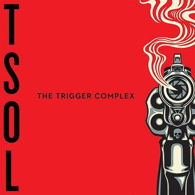 T.S.O.L. - THE TRIGGER COMPLEX Red with black splatter (LP)