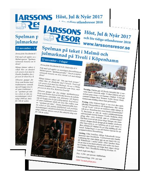 Larssons Resor katalog Höst Vinter 2017