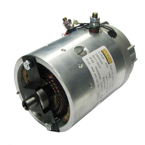 Motor 2kW 24V open star counterclockwise HACO