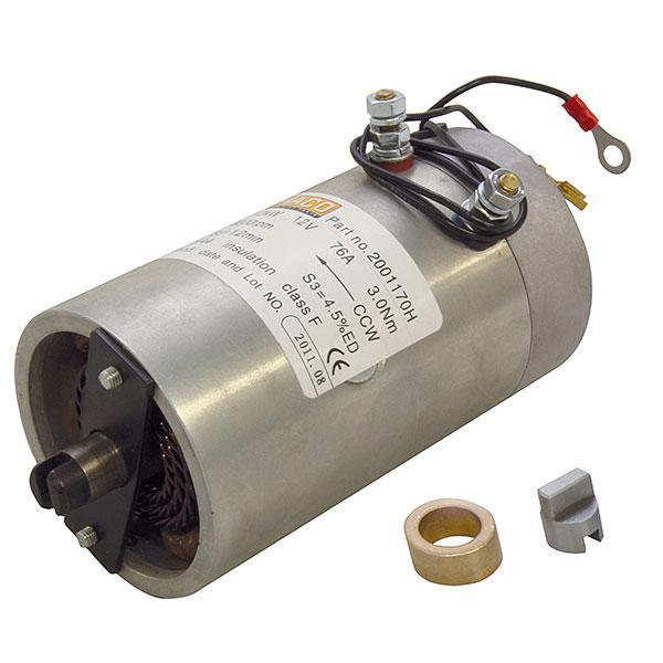 Motor 0,8kW 12V open female counterclockwise HACO