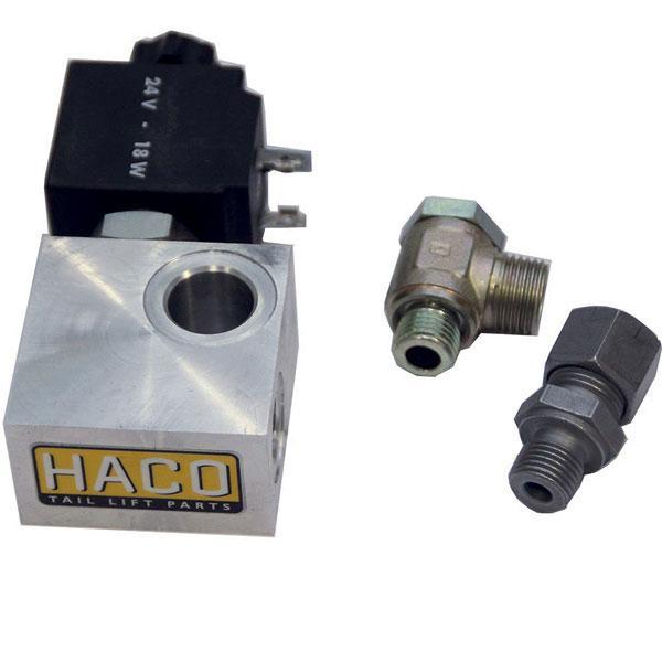 Valveblock + Ventil 24V HACO
