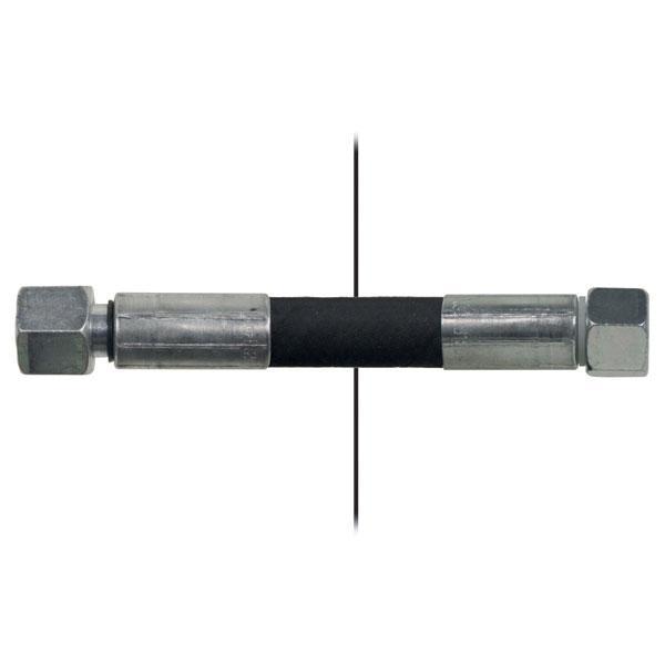 Slang med invändig gänga=12L/gänga =12L - Längd 650mm