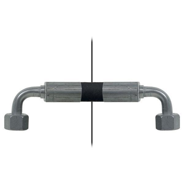 Slang med invändig gänga=12L90°/gänga =12L90° - Längd 600mm