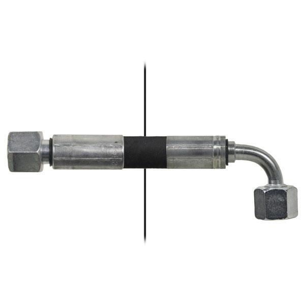 Slang med invändig gänga=10L/gänga =10L90° - Längd 1000mm