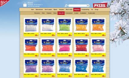 Pyzzel, pyssel för barn och vuxna, webplats producerad 2012.