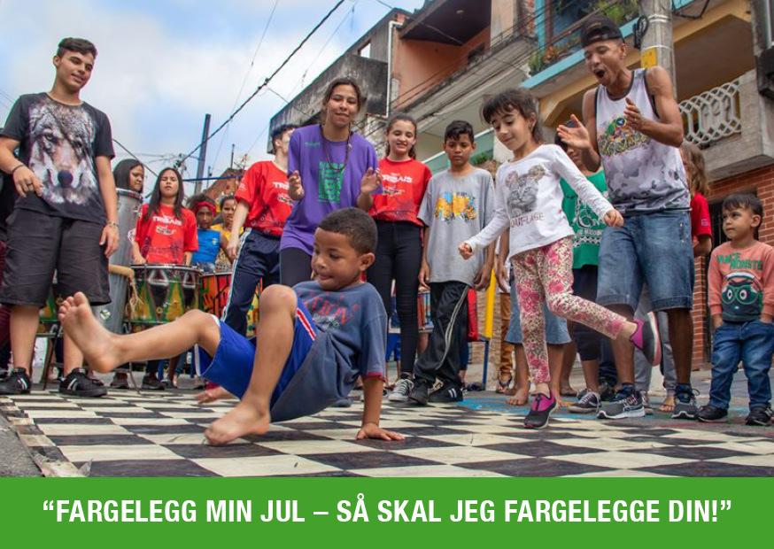 Aktiviteter for barna ute i favelaen