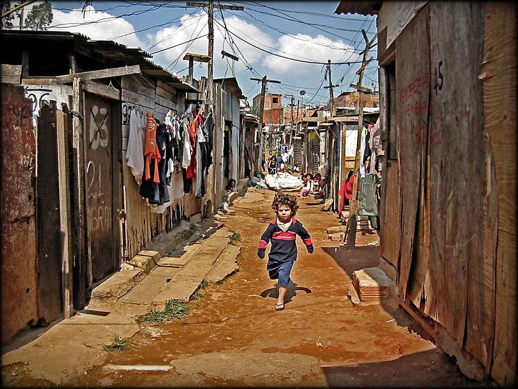 Favela i Diadema, nær kolibriRedet