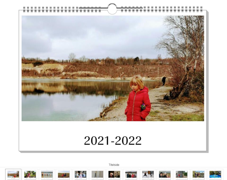 Pixum giver dig et godt indtryk af, hvordan din færdige kalender kommer til at se ud.