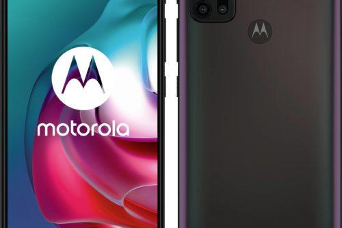 Fingeraftrykslæseren gemmer sig bag cirklen med Motorola-logoet.