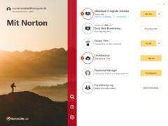 Hvis du synes, denne nye udgave af hovedmenuen i Norton 360 er for overvældende, kan du skifte til et mere klassisk look med mindre tekst og færre muligheder.