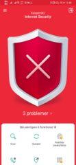Kasperskys app gør dig tydeligt opmærksom på, at der er problemer. Du får en præcis oversigt, over hvad der er galt, ved at trykke på advarslen.