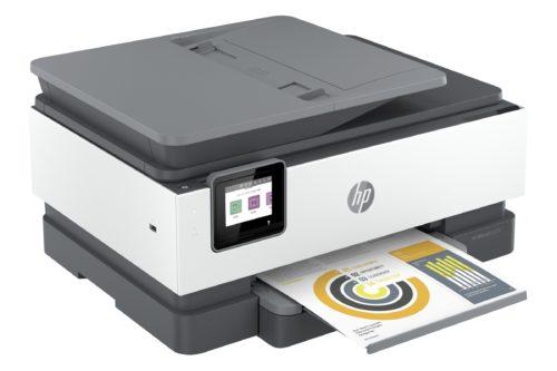 De vigtigste funktioner som kopiering og scanning er kun ét klik væk på printerens skærm.
