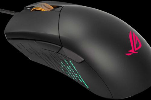 Du kan styre lyset i ROG Gladius III med en knap i bunden eller med musens indstillingsprogram.